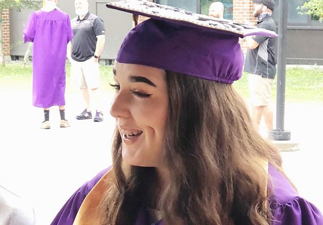 smiling girl graduate