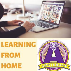 learn from home graphic