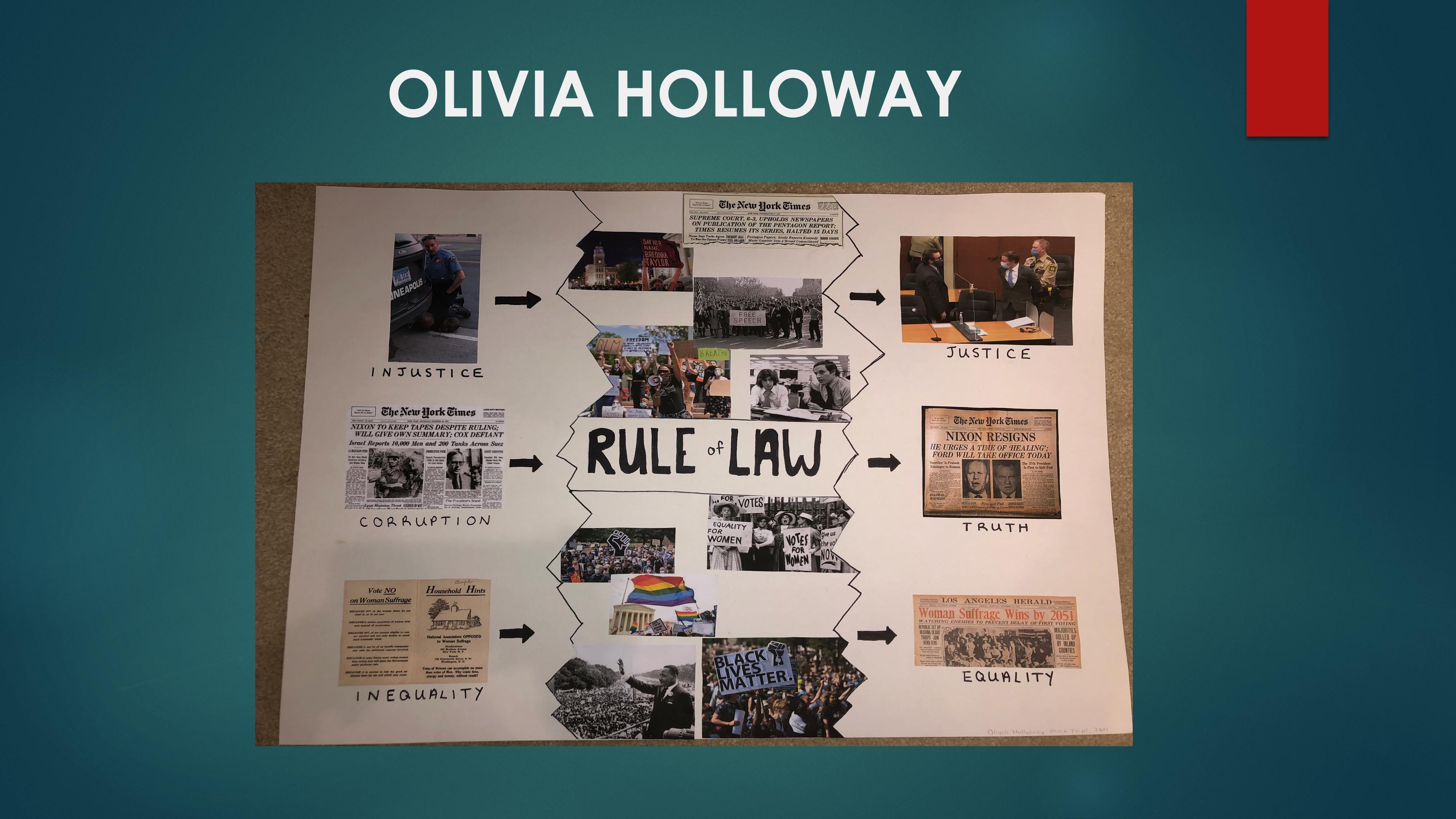 scrapbook display of law pictures