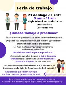 Spanish job fair flyer