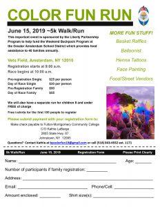 Photo of color run fun flyer
