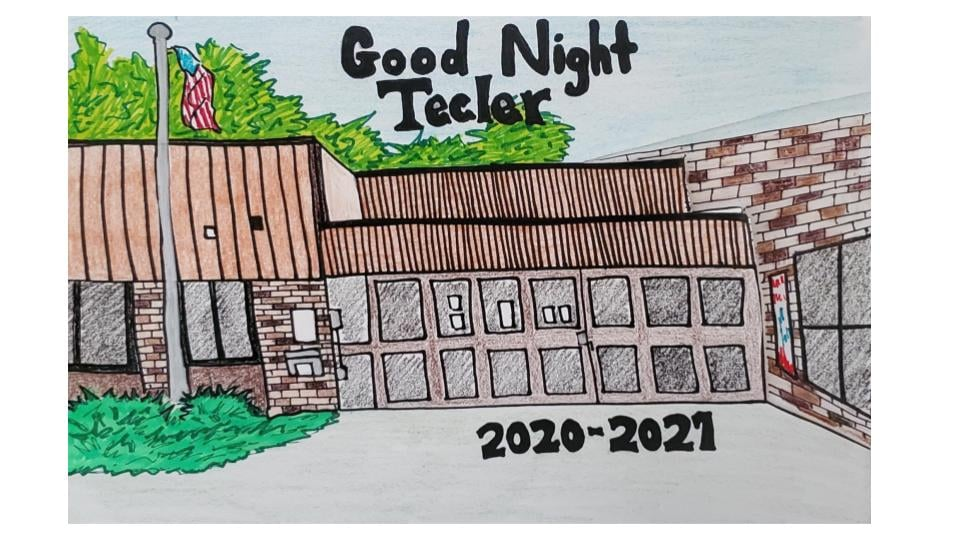 drawing a a school