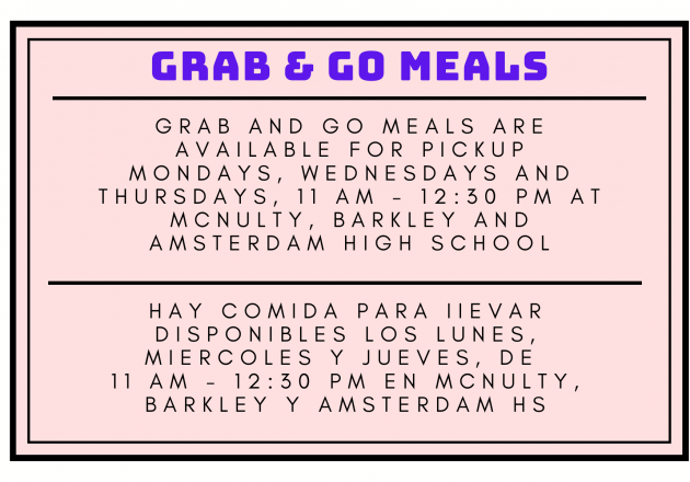 grab and go meal announcement