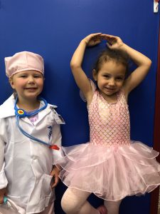 Pre-K students dress as their future occupation